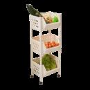 百露 带滑轮厨房置物架 2层 25元包邮(需用券)¥25