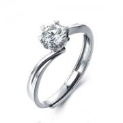 天使之约 比钻石更闪 莫桑石戒指 饰品 多款 399元包邮 平常1399元