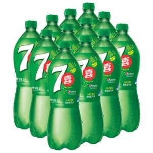 限华南、PLUS会员:七喜7UP 柠檬味汽水碳酸饮料1L*12瓶