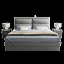 木月 北欧现代简约布艺软包床 +弹簧椰棕床*1+床头柜*2 1077元包邮¥1077