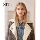 Siti Selected 7DC208b 女士格纹大衣134.95元包邮