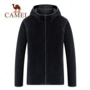 CAMEL 骆驼 T8W237125 男士连帽拉链针织外套