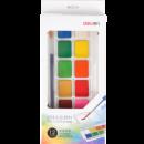 Deli 得力 可水洗绘画颜料6支+1支笔刷 2.9元包邮(需用券)¥3