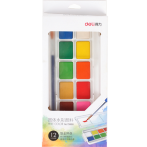 Deli 得力 可水洗绘画颜料6支+1支笔刷 2.9元包邮(需用券)