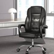 Hbada黑白调HDNY166PU皮家用电脑椅黑色