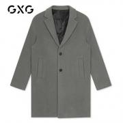 GXGGY126167G男士修身毛呢大衣