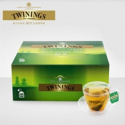 TWININGS川宁英国 绿茶包 英式进口茶叶 绿茶100片绿茶茶包袋泡茶69.3元