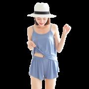 慕锦记 MJJK-5001 女士吊带睡裙套装 吊带+短裤 XL-3XL码 19.8元包邮(需用券)¥20