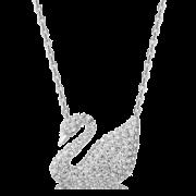 88VIP:SWAROVSKI 施华洛世奇 5007735 银色大号天鹅项链 364.8元包邮(前1小时)¥538