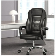 Hbada 黑白调 HDNY166 PU皮家用电脑椅 黑色