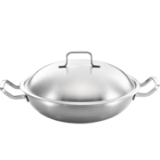 LINKFAIR 凌丰 LFDCG-NX332SA 双耳不锈钢炒锅 32cm 99元包邮(需用券)