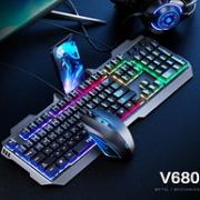 炫酷七彩灯效、机械手感:英菲克 6键游戏鼠标+键盘套装券后59元包邮