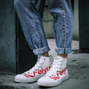 Feiyue飞跃 男女 字母经典款 高帮帆布鞋68元包邮