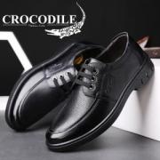 CROCODILE 鳄鱼恤 EYX6392 男士商务休闲皮鞋*3件