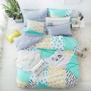 历史低价:LOVO 趣味时空纯棉时尚ins风四件套 1.8m160元包邮