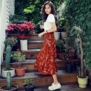 韩都衣舍 EK8422 女士短袖+半身裙两件套87元包邮