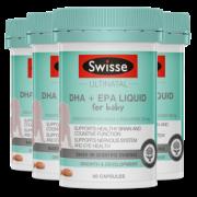 Swisse 婴儿液体DHA + EPA 鱼油软胶囊 60粒*4 277.4元包邮(需定金50元)