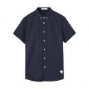 28日0点:Meters Bonwe 美特斯邦威 88225392 男士棉麻短袖衬衫29.9元包邮