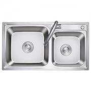 KEGOO 科固 K10035304 不锈钢厨房双槽龙头套装 76*41cm