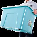 LONGSTAR 龙士达 塑料收纳箱带盖  47*34*29cm 2个装 39元包邮(需用券)¥39