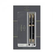 PARKER 派克 Sonnet卓尔 钢笔+圆珠笔 纯黑丽雅金夹 M尖444.21元