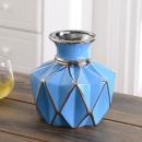 Hoatai Ceramic 华达泰陶瓷 创意陶瓷插花花瓶摆件  矮款蓝 40元包邮(需用券)¥40