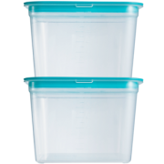 adous home 冰箱保鲜收纳盒 1400ml*2只+圆盒 500ml 9.9元包邮(需用券)