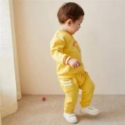 MiniBalabala迷你巴拉巴拉 婴儿薄绒运动套装