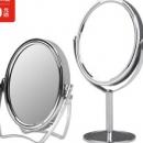 京东京造  镜子 台式双面化妆镜  高清放大  立式+台式镜组合装12.8元包邮