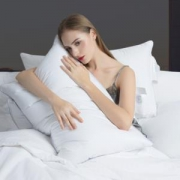 PLUS会员:霞珍 60支全棉羽绒鹅毛枕头 单只装*2件