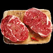 ¥128 澳洲进口 顶诺 上脑/眼肉牛排套餐 8-10片 共1000g 独立真空包装