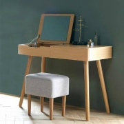 样子生活 梳妆台  化妆桌  梳妆台组合(梳妆台+凳子)