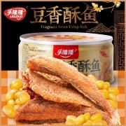 新低、乐隆隆 豆香酥鱼140gx3罐