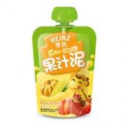 Heinz 亨氏 乐维滋 果汁泥 120g 苹果蜜桃玉米南瓜味 *3件