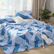 LOVO家纺 夏日律动防螨抗菌可水洗夏被1.8米床*2件