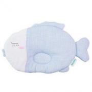 PurCotton 全棉时代 小鱼款 婴幼儿定型枕头 蓝白格 *3件