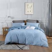 MERCURY水星家纺 禅叶浮影全棉床上四件套1.8m床