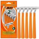 BIC 比克 一次性手动剃须刀 双层刀片5支装
