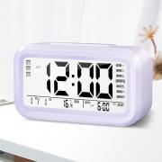 多功能电子闹钟创意学生静音床头卧室夜光儿童简约数字智能小钟表 12.8元