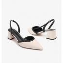 BELLE/百丽 女鞋 凉鞋 绵羊皮 粗跟 中跟鞋349.05元包邮