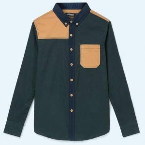 限尺码:班尼路 38534006RTO 男士纯棉印花衬衫