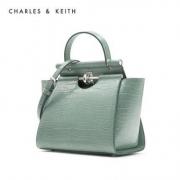 CHARLES&KEITH CK2-50780937 女士鳄鱼纹手提单肩包