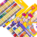 TRUECOLOR 真彩 36色油画棒 送图画本+握笔器+卷笔刀 8.8元¥9