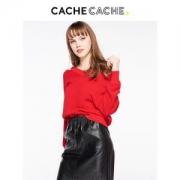 CacheCache 7519012644 女士V领露肩毛衣