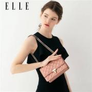ELLE 女包 斜挎包 小香风 菱格 链条包 单肩包239元包邮