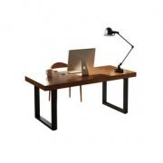 兆生 铁艺实木办公电脑桌 120*60*75cm 3cm厚284元包邮(需用券)
