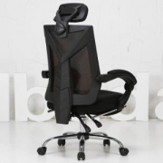 Hbada 黑白调 HDNY132 人体工学电脑座椅(脚托款)