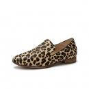 clarks其乐女鞋Pure Viola豹纹低跟一脚蹬单鞋乐福鞋小方跟奶奶鞋754.15元