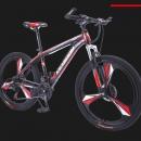 PLUS会员:凯斯顿 山地自行车 双碟刹 黑红 21速410.1元包邮
