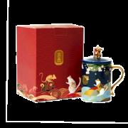 共禾京品&周大福NB10联名款 中国风招财猫金鼠陶瓷马克杯 400ml 39.9元(需用券)